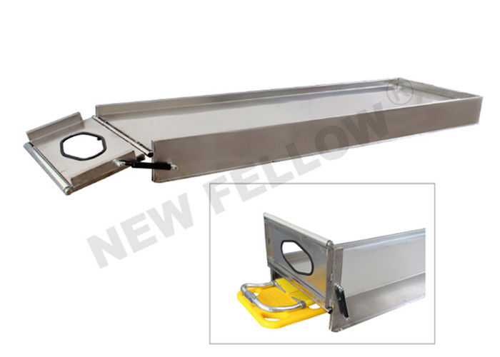 Spine Board Basic Stainless Steel Stretcher Platform With Bottom Space