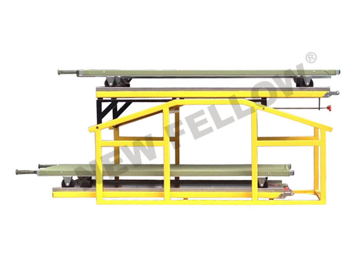 Powder coated Steel Movable Double Layer Stretcher Platform For Big Ambulance